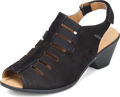 Comfortiva Women's, Faye Sandal Black 8.5 W