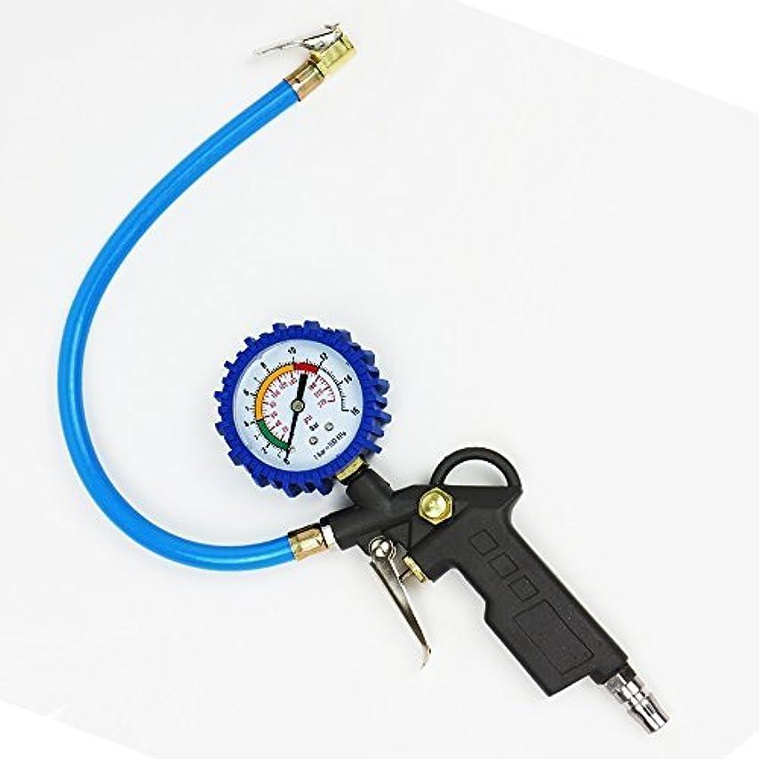寓話付添人汚れた【Treiber】 タイヤ 空気圧チェッカー 空気入れ 加圧 減圧 自動車 バイク 点検 整備 パンク防止