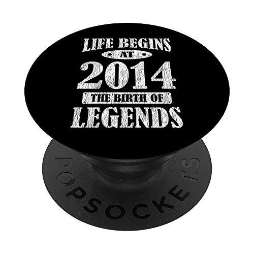 La Vida Comienza En 2014 El Nacimiento De Las Leyendas 7 PopSockets PopGrip: Agarre intercambiable para Teléfonos y Tabletas