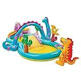 AFYH Piscina Infantil Inflabl, Gran Parque Infantil con Piscina Inflable para niños, con Efecto de rociado de Agua y tobogán, para Entretenimiento...