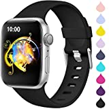 Haveda Sport Compatible for Apple Watch SE 40mm, Apple Watch Series 6 5 4 Band, Soft iWatch Bands 38mm Womens Comfortable Waterproof Durable Replacement iWatch Series 3 2, Black 38mm/40mm S/M