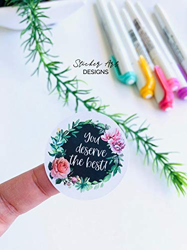 Journal Stickers, You Deserve BEST Stickers, Wedding Stickers, Happy Mail Stickers, Business Stickers, Planner Stickers, Packaging Label Cool Sticker (3 pcs/Pack,3x4 inch)