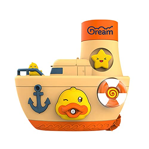 lencyotool DuckBoatSprinklerToy, Baby Bath Toys Duck Sprinklers Water Spray Bathtub Toy Boat Kid 1 2 3 Year Olds Duck Squirt Water Toys, Floating Boat Bath Toys Baby Kids Toddler Shower Gifts