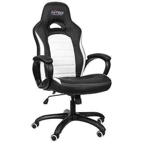 Nitro Concepts C80 Pure Gaming Stuhl - schwarz/weiß