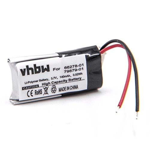 vhbw Li-Polymer Akku 140mAh (3.7V) passend für Wireless Headset Kopfhörer Plantronics Savi 730, W730, WH210