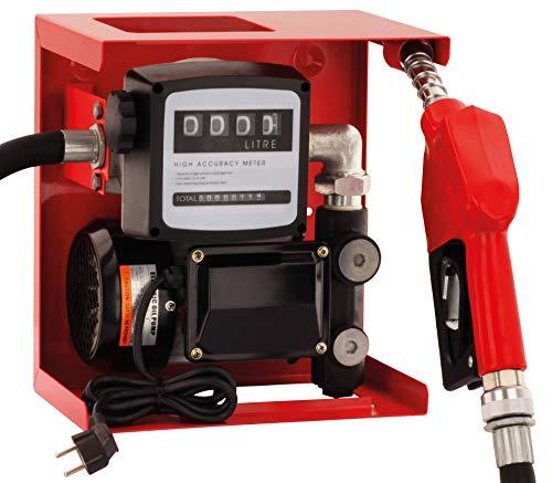 BLUREA Elektrische Dieselpumpe Selbstansaugend 230V Komplett Set, Automatische Zapfpistole Mit Drehgelenk, 4m Schlauch, Zählwerk, Bequemes Tanken Mit 60l/min Dieselförderung