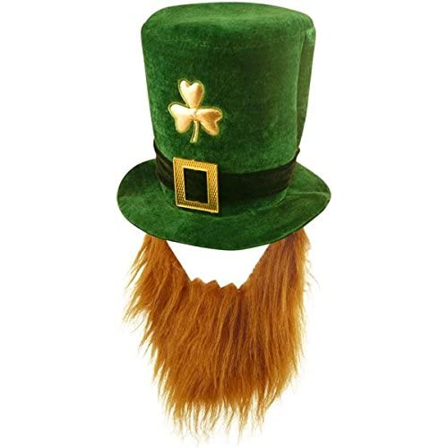 Velvet Shamrock Hat With Beard - St Patrick s Day a161ca850b5