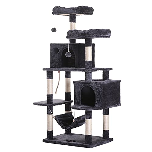 Hey-brother Large Multi-Level Cat Tree Condo Furniture with...
