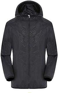 Women Men's Unisex UPF 50+ UV Protection Hooded Rain Jacket Windbreaker Raincoat Waterproof Ultra-Light Sport Shell