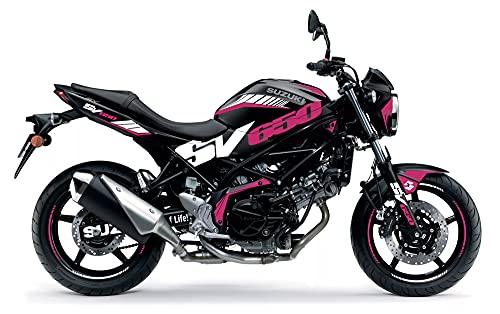 Motostick Graphics Kit de calcomanías compatible con Suzuki SV650 2016-2021 'SV' (rosa fucsia)