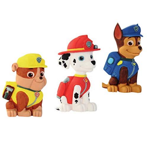 Decorazione in Zucchero Paw Patrol 2D - Cani cagnolini Chase, Marshall, Rubble - per Decoro Torte, Dolci, Muffin, Cupcake ECC. - Chase, Marshall, Rubble