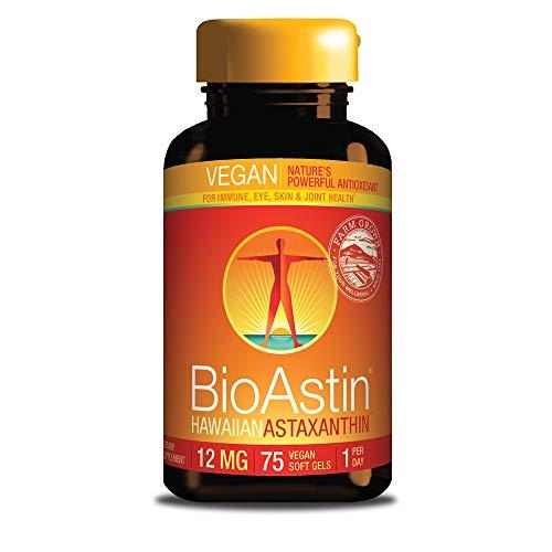 BioAstin Hawaiian Astaxanthin Vegan - 12mg, 75 Count -
