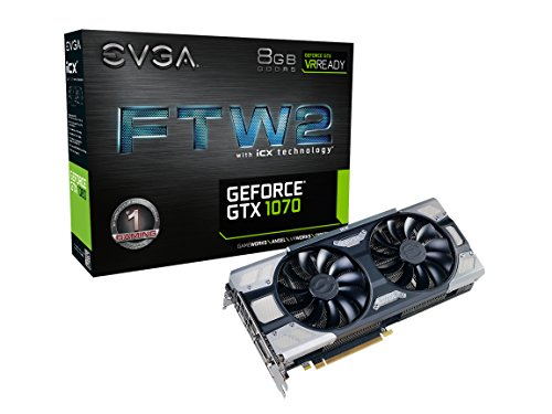 EVGA GeForce GTX 1070 FTW2 Gaming, 8GB GDDR5, iCX Technology...