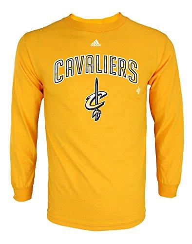 adidas NBA - Camiseta de manga larga para hombre, con gráficos, Atlético, S, Cleveland Cavaliers - Gold #1