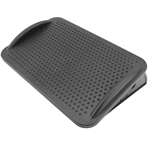 primematik–Poggiapiedi con piattaforma regolabile di plastica Nero 424x 283mm (ag001)