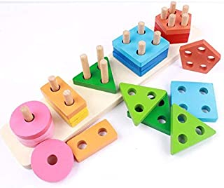 لعبة تعليمية مونتيسوري مجموعة لتعليم الأشكال الهندسية و الألوان