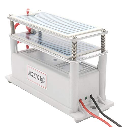 Tickas Generador de ozono de cerámica portátil de 24 g de larga duración Dos tabletas de ozono Placa integrada Purificador de agua y aire Ozonizador,Ozonizador Cerámico