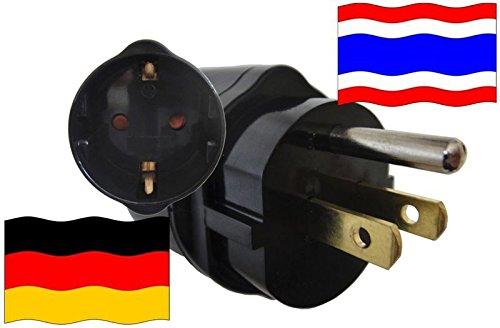 Preisvergleich Produktbild Adapter Thailand Kindersicherung und Schutzkontakt für Geräte aus Deutschland 250V
