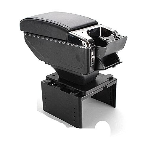 Apoyabrazos para coche Almacenamiento de coche Para opel corsa E Caja de reposabrazos con portavasos Cenicero Productos de decoración Accesorios Con interfaz USB Reposabrazos de coche (Color: D líne