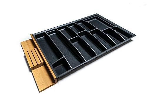 LANA solution 90er Schublade - Besteckeinsatz – Maßanfertigung (Anthrazit)
