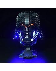 ZCXX Ledverlichtingsset compatibel met LEGO 75304 Darth Vader helm