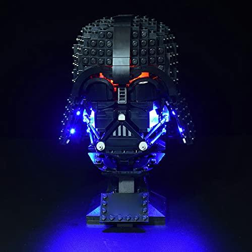 MBKE Licht Set für LEGO 75304 Star Wars Darth Vader Helm, LED Licht Set mit Batteriekasten kompatibel mit LEGO 75304