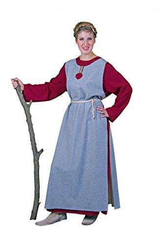 Wikingerfrau: Kleid und Überwurf, Größe L