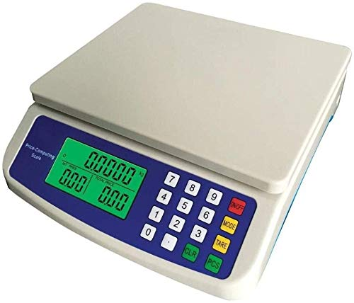 GXT Escalas de pesaje Cocina Escala de Precios electrónicos con batería de Litio de 3,7 voltios en inglés Recargable con Adaptador Pequeña (Color : 10kg-1g English)