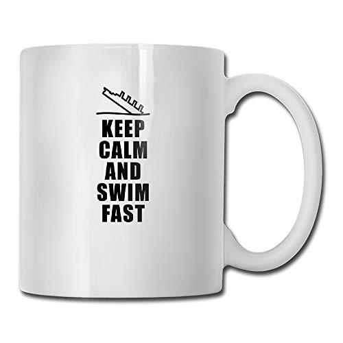 Keep Calm Swim Fast Titanic Tea Cup