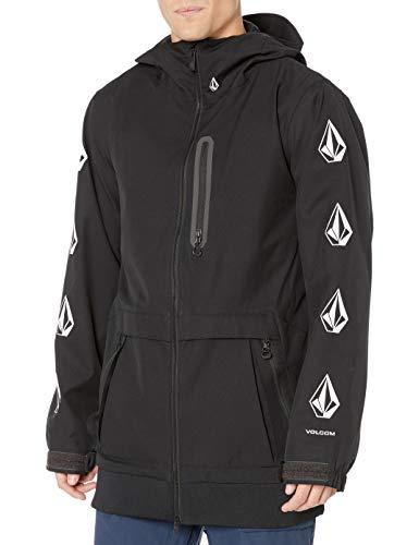 Volcom Men's D.s. Long 2 Layer Snow Jacket, Black, Large