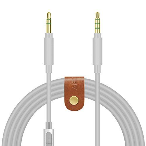Geekria - Cable de Audio de Repuesto para Sony MDR-1000X, MDR-100AAP, MDR-100ABN, MDR-XB950BT, XB650BT, XB750BT, MDR-1A y Auriculares sin enredos (3,5 mm Macho, Gris de 1,5 m)