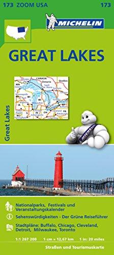 Michelin Great Lakes: Straßen- und Tourismuskarte 1:1.267.200 (MICHELIN Zoomkarten)