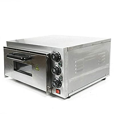 Electric Pizza Oven Single Layer?110V 2000W?Commercial Bake Oven Toaster Pizza Oven Countertop Snack Oven Multipurpose Oven Deluxe Pizza for Restaurant Home