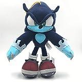 agzhu 30Cm Sonic The Werehog muñeco de Peluche Juguetes Negro Azul Sombra Sonic Peluche Suave Juguet...
