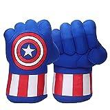 SPOTOR Guantes de Capitán América Niño Vengadores Hulk/Spiderman/Capitán América/Guantes de Thanos Accesorios Cosplay niño niña Halloween superhéroe Juego puño Fiesta Regalo