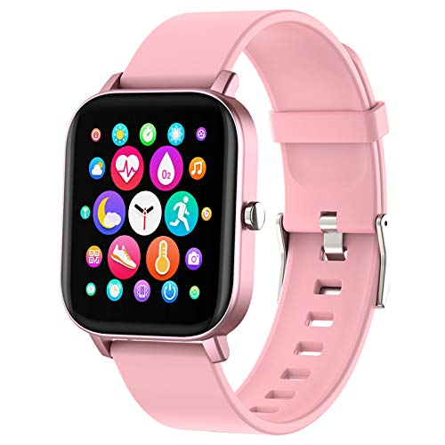 Smart Watch, FirYawee Smartwatch for Android Phones and iOS Phones Compatible iPhone Samsung,Fitness Tracker IP68 Waterproof with Heart Rate and Sleep Monitor,Step Counter,Smart Watches for Men Women