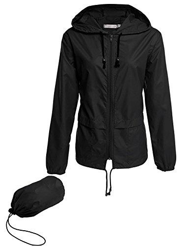 Lomon Sommerjacke Damen Leichte Jacke Atmungsaktive Regenjacke Regenmantel Outdoor Wasserdicht Sommermantel