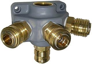 Endverteilerdose EV 34 G3/1, Kupplung 4 fach G 3/4 Druckluftverteiler Kunststoff