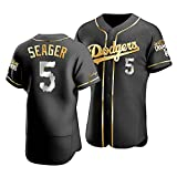 GYN 2021 Dodgers N # 5 Seager Baseball Fan Jersey Camiseta de Manga Corta Transpirable de Verano para Hombres y Mujeres, Ropa Deportiva de Moda,G,XXL