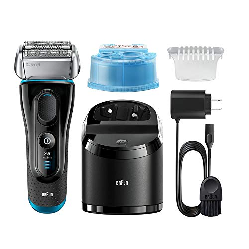 Braun Electric Razor for Men / Electric Shaver, Series 5 5190cc, Rechargeable with Clean & Charge Station