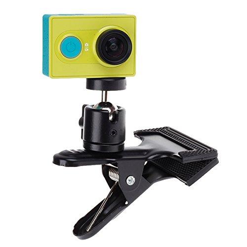 YGM AYGMOTO 360 Degree Rotación Mochila Clip Clip Montaje rápido de la Abrazadera for la cámara Deportiva Xiaomi Yi