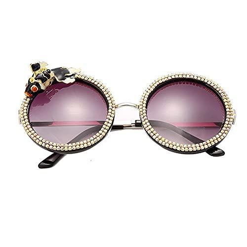 AMFG KOI Gafas De Sol Redondas Novedad Personalidad Creativa Gafas De Sol Fiesta Sombrilla Gafas (Color : C)