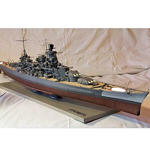ELVVT 3D Puzzles Scharnhorst Schlachtkreuzer Scharnhorst Kriegsschiff Papier Modell Schiffsspielzeug DIY handgemachtes Origami Modell Kreative Montage Papier Puzzles Boot BAU Kits Geschenk für Kinder