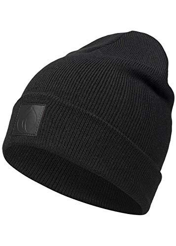 Occulto Leatherpatch Winter Mütze Beanie (Black1)