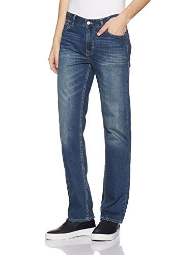 Calvin Klein Men's Straight Jeans, Authentic Blue, 36x32