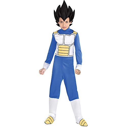 Party City Dragon Ball Super Vegeta Costume for Children, Size Medium, Includes Jumpsuit, Headpiece, and Boot Covers