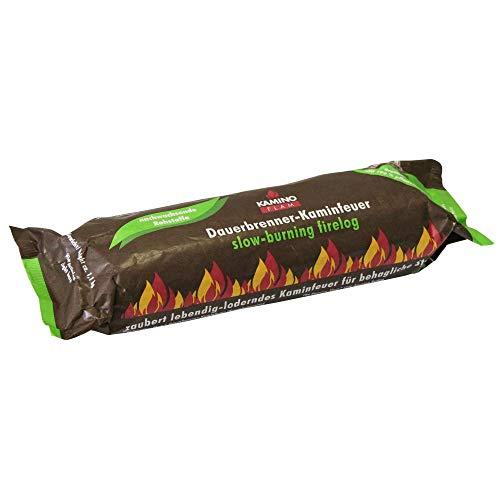 Danto Spar-Set: 10 Stück KaminoFlam® Dauerbrenner-Kaminfeuer, 100% nachwachsende Rohstoffe, für Kaminofen, Kachelofen, Holzofen