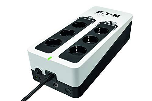 Eaton 3S UPS 550VA - 3S550D - Sistema de alimentación ininterrumpida SAI - 6 Salidas Tipo DIN - Off-Line - Negro y Blanco