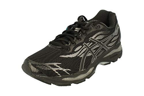 Asics Gel-Ziruss Hombres Running T7J1N Sneakers Turnschuhe (UK 10.5 US 11.5 EU 46.5, Black Silver 9090)