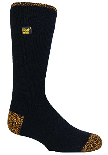 Heat Holders / Workforce Herren Socken schwarz Nero e Giallo Large